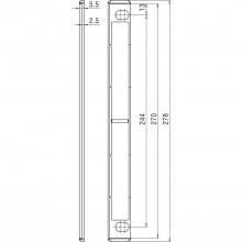 Podložka protiplechu 278 x 5,5mm, čierny plast