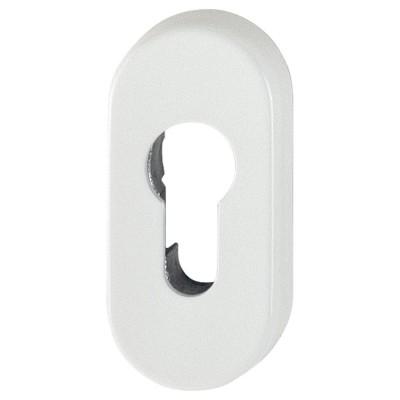 Interiérová oválna rozeta pre cylindrickú vložku, biela