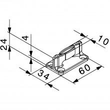 Podlahové vedenie HAWA Junior 40, 80, 120,, plastové