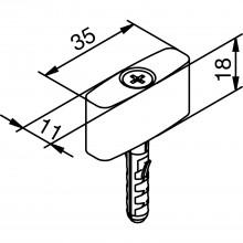 Podlahový vodiaci čap SOLIDO 80, štandardný, plast