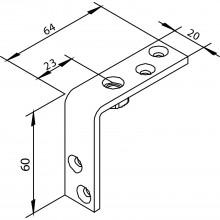 Nosný uholník SOLIDO 80, kovanie pre skladacie dvere