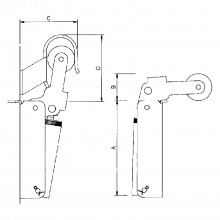 Dverový zatvárač Justor, veľkosť FR 1, šírka dverí – 900 mm, ušľachtilá oceľ