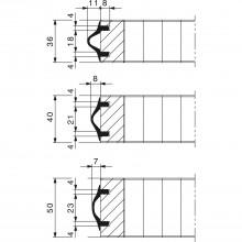 Ochranný profil hrán Hawa, 1 Rolka 5m, guma EPDM čierna (RAL 7021)