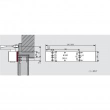 Montážna podložka DORMA pre TS 83, strieborná