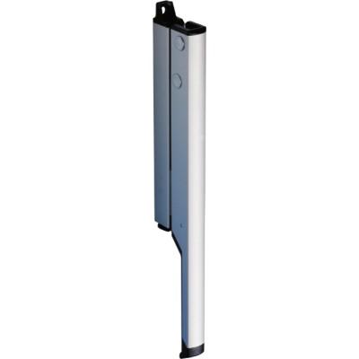 Ručná páka s rohovým vedením OL 90, zdvih 54 mm, strieborne eloxovaná