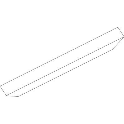 Krycí profil OL90, 3000 mm, strieborný eloxovaný