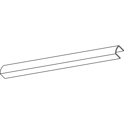 Krycí profil OL90, 6000 mm, strieborný eloxovaný