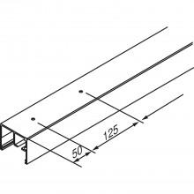 Vodiaca koľajnica EKU-PORTA 100-GW, 2500 mm