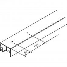 Kombi vodiaca koľajnica EKU-PORTA 100-GWF, 2500 mm