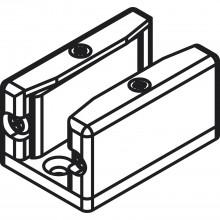 Podlahové vedenie s odnímateľnou prednou časťou, sklo 8 - 12,7 mm
