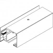 Profil pre bočný diel Muto 150, na mieru, strieborne elox.hliník