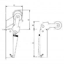 Dverový zatvárač Justor, veľkosť FR 3, šírka dverí – 1300 mm, ušľachtilá oceľ
