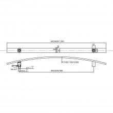 MARCHESI dverové madlo 4529 - 1200mm, rozteč 1000mm, 35x10mm,ušľ.oceľ