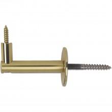 Držiak zábradlia s rozetou ø 50mm, odstup od steny 75 mm, mosadz leštená