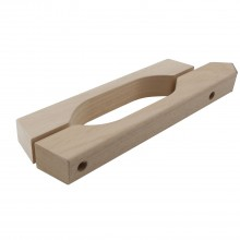 Kovanie na saunové dvere, sada drev. držad., na sklo 8-10mm,drevo Abachi(13.005)