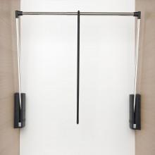 Sklopná šatníková tyč Junior, V:850,Š:600-1000, nos.10kg, plast čier./FE ponikl.