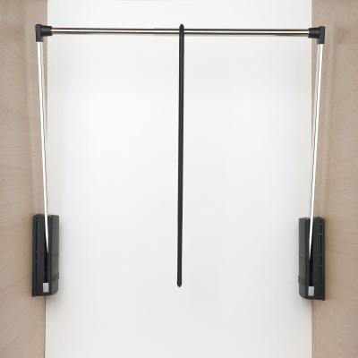 Sklopná šatníková tyč Junior, V:850,Š:770-1200, nos.10kg, plast čier./FE ponikl.