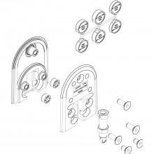 Odpružené dolné vedenie HAWA-Ordena 70/F, 1 sklenené dvere (JBS/VBS)