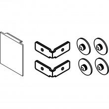Súprava koncoviek čiel EKU DIVIDO 100, na montáž na stenu, 51x60 mm,hliník elox.