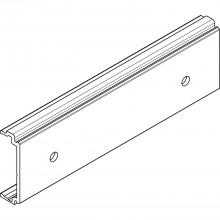 Upevňovací diel DIVIDO 100 H, dier., na drev. čelo, 9,5 x 29 x 97, elox. hliník