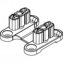 Dvojité dolné vedenie HAWA-Ordena 70/P, bez vôle, sklenené dvere/sklenené dvere