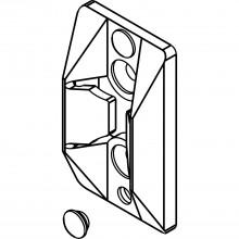 Strediaci diel HAWA-Ordena 70/P–70/F, pre upevnenie sklenenej steny, sivý plast