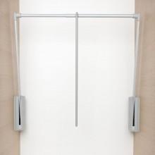 Sklopná šatníková tyč Junior,V:850,Š:600-1000,nos.10kg, plast sivý/striebor.sivý