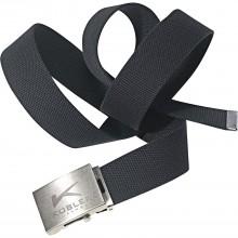 KÜBLER textilný opasok čierny, dĺžka 115cm