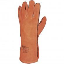 Zváračské rukavice Kevlar, EN388/EN40, veľkosť 10,5, kat.II, hov.štiep.