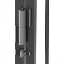 Samozatvárací dverový záves Tiger/Puma, strieborne eloxovaný hliník