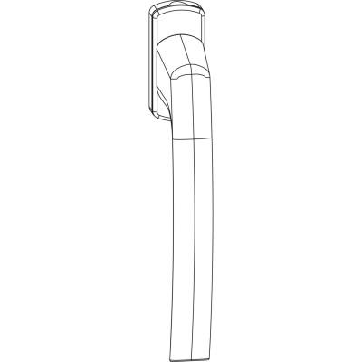 Kľučka MACO SKB-S/SE/PAS, štvorhran 7x32 mm, hliník strieborne eloxovaný