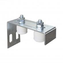 Vedenie brány nastaviteľné s 2 plastovými valčekmi ø 40 mm