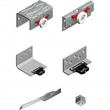 CINETTO PS48 súprava kovania s tlmením, hrúbka dverí 28mm, počet dverí 3