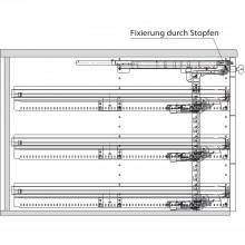 Sada pre kont. pís. stola Silent System, čiastoč. výsuv Systema Top 2000, 77602