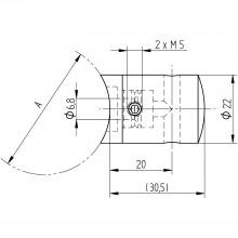 Držiak traverzy pre 4 mm lanko, pre rúru ø 42,4 mm, brúsené antikoro V4A