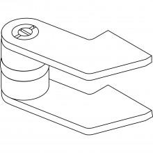 Čapový záves GEZE model EK pre oceľové dvere, ťahaná plochá oceľ, neup.
