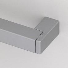 Nábytková úchytka 384 mm, hliník / zinok, odliatok, prír. eloxov. hliník