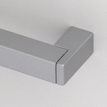 Nábytková úchytka 480 mm, hliník / zinok, odliatok, prír. eloxov. hliník