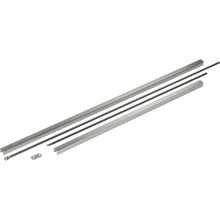 Vertikálna rozvorová tyč PHA 04, vrátane krytov, strieborné