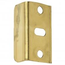 Plechové vodiace uholníky 30 x 11 x 11 mm, pomosadzená oceľ