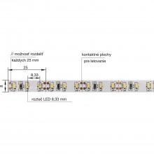 LED pás 3014 neutrálna biela-IP20-11,2 W/m, 3000 mm