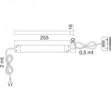 LED-sieťový zdroj NG39 12 V/DC, rozdeľovač s 10 výstupmi, výkon 30 W