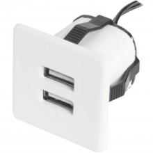 Zabudovaná USB nabíjačka 2xUSB TYP-A 5V max. 2x1,5A biela