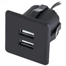 Zabudovaná USB nabíjačka 2xUSB TYP-A 5V max. 2x1,5A čierna
