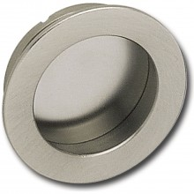 Mušľová úchytka ø 40 mm, rozmer pre vsadenie 35 mm, mosadz pochrómovaná leštená