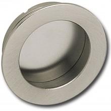 Mušľová úchytka ø 40 mm, rozmer pre vsadenie 35 mm, mosadz matne poniklovaná