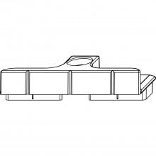 Protikus Multi-Trend 12 mm, drážka Euro-drážka 6/8/4, strieborná zink. zliatina