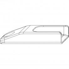 Protikus, falc 12/18 mm hladký, pre valč. čap, pozinkovaná oceľ, farba striebra