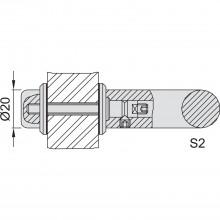 KWS upevňovacie príslušenstvo S2 - 20mm, M 6 x 45, ušľachtilá oceľ