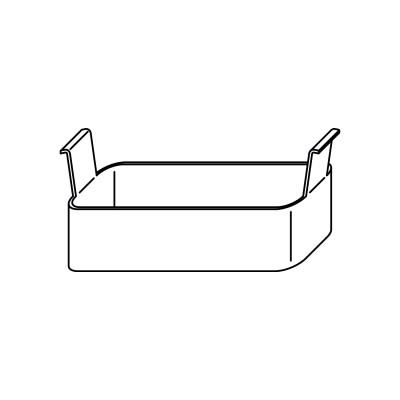 Krytka pre dverovú zástrč / pre protikusy na drevo, oceľ pozinkovaná